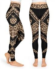 Teacher Leopard Pattern Print  High Waist Leggings front