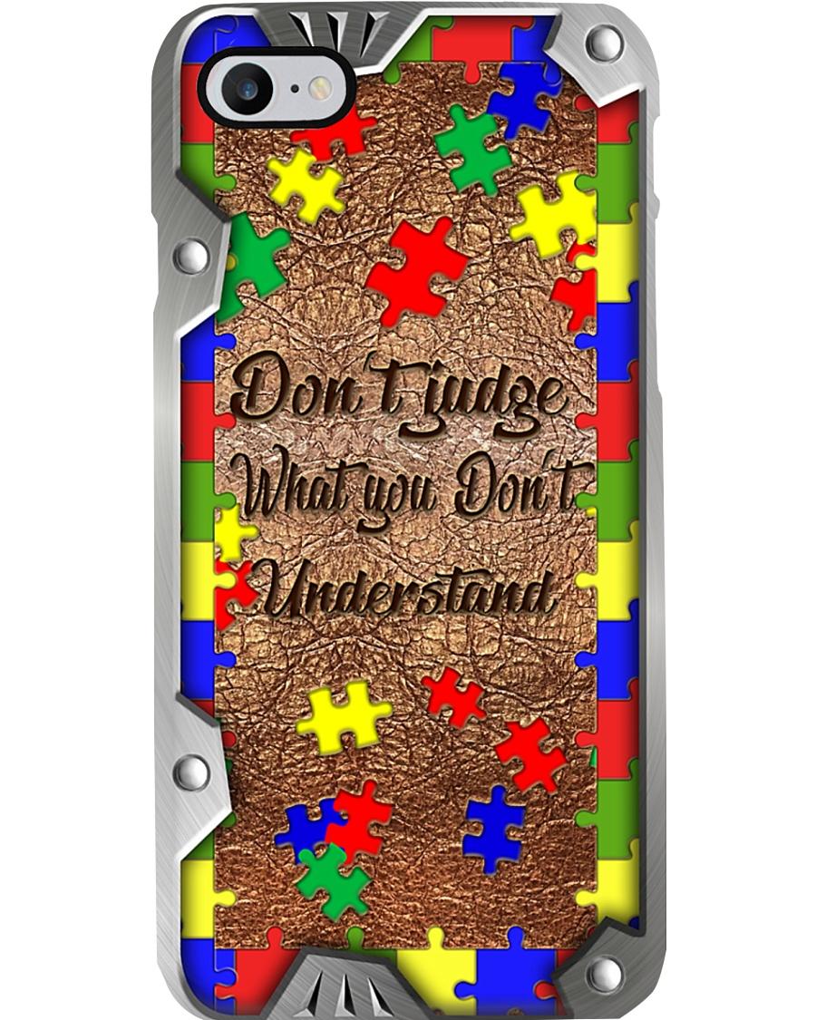 Don't judge Metal pattern print Phone Case