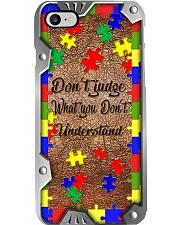 Don't judge Metal pattern print Phone Case i-phone-8-case