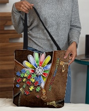 Accept understand love Leather pattern print All-over Tote aos-all-over-tote-lifestyle-front-10