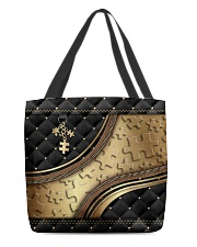Autism awareness metal pattern print  All-over Tote front