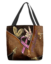 Peace love cure All-over Tote back