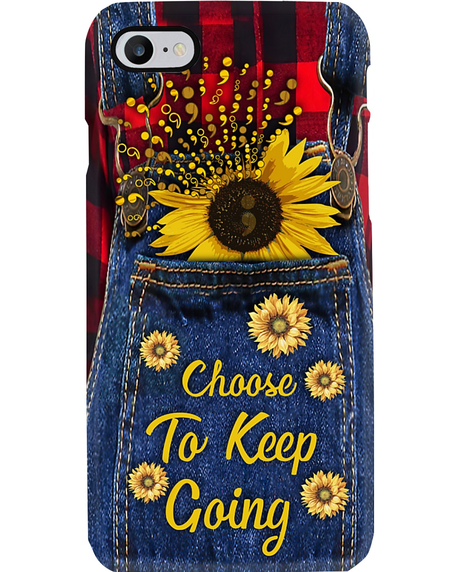 Choose to keep going Leather pattern print Phone Case