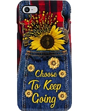 Choose to keep going Leather pattern print Phone Case i-phone-7-case