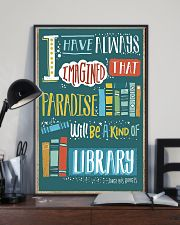 Paradise will be a kind of library 11x17 Poster lifestyle-poster-2