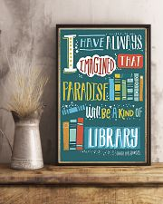 Paradise will be a kind of library 11x17 Poster lifestyle-poster-3