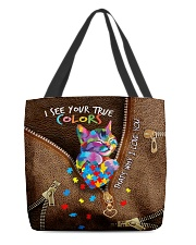 I see your true color Leather pattern print  All-over Tote back