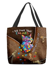 I see your true color Leather pattern print  All-over Tote front