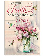 Let your faith be bigger 11x17 Poster front