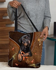 Paws For The Cure Leather Pattern Print  All-over Tote aos-all-over-tote-lifestyle-front-10