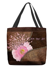 Faith hope love Leather pattern print All-over Tote back