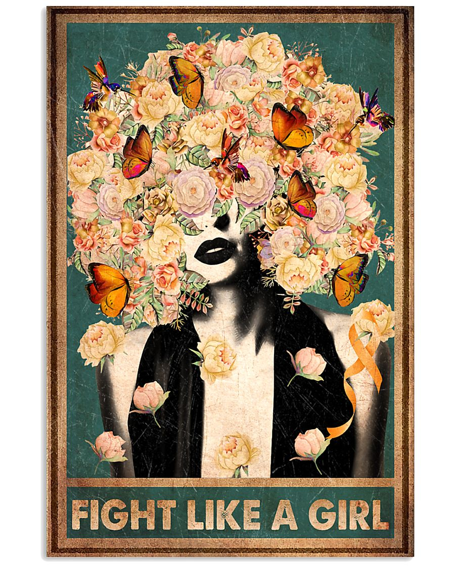 Fight like a girl 11x17 Poster