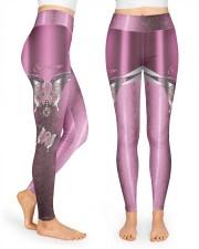 Survivor Metal pattern print  High Waist Leggings front