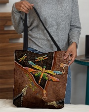 Hello Darkness Leather Pattern Print All-over Tote aos-all-over-tote-lifestyle-front-10