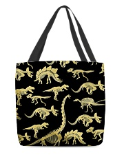 Dinosaur skeletons Haloween All-over Tote front