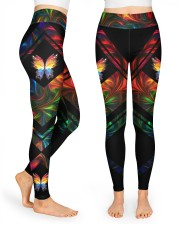 Colorful butterfly  High Waist Leggings front