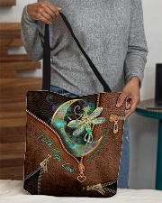 Kidney Disease Awareness Leather Pattern Print All-over Tote aos-all-over-tote-lifestyle-front-10