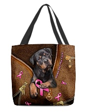 Paws For The Cure Leather Pattern Print  All-over Tote front
