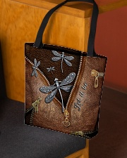 Let it be Leather pattern print All-over Tote aos-all-over-tote-lifestyle-front-02