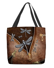 Let it be Leather pattern print All-over Tote back