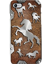 Horse lovers Metal pattern print Phone Case i-phone-8-case