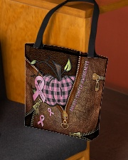 Breast cancer awareness Leather pattern print All-over Tote aos-all-over-tote-lifestyle-front-02