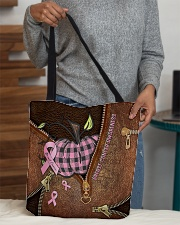 Breast cancer awareness Leather pattern print All-over Tote aos-all-over-tote-lifestyle-front-10