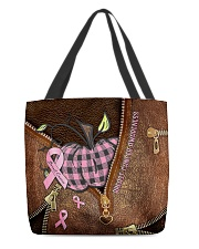 Breast cancer awareness Leather pattern print All-over Tote front