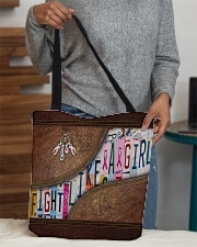 Fight like a girl All-over Tote aos-all-over-tote-lifestyle-front-10