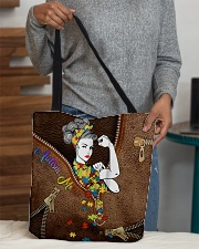 Autism mom Leather pattern print All-over Tote aos-all-over-tote-lifestyle-front-10