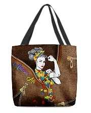 Autism mom Leather pattern print All-over Tote front