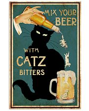 Mix Your Beer with Catz Bitters 11x17 Poster front