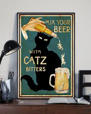 Mix Your Beer with Catz Bitters 11x17 Poster lifestyle-poster-2