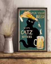 Mix Your Beer with Catz Bitters 11x17 Poster lifestyle-poster-3