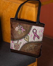 Peace love cure leather pattern print  All-over Tote aos-all-over-tote-lifestyle-front-02