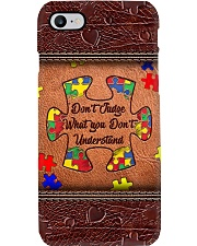 Don't judge what you don't understand Phone Case i-phone-8-case