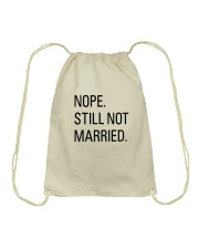 nope still not married - i'm still alone Drawstring Bag thumbnail