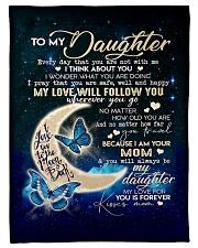"Fleece Blanket Gift fo your lovely Daughter Small Fleece Blanket - 30"" x 40"" front"