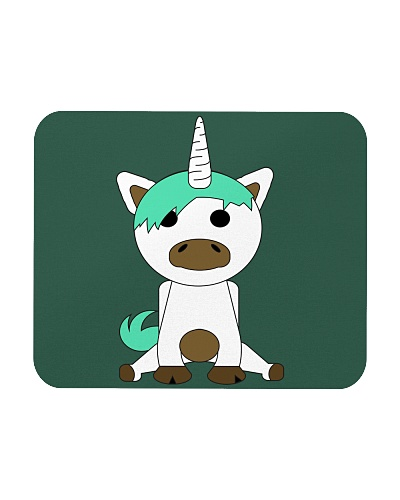 Unicorn with Punk Hair Green