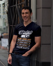 DIRT TRACK RACING - GENTLEMENT V-Neck T-Shirt lifestyle-mens-vneck-front-1