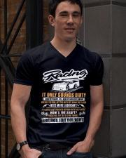 DIRT TRACK RACING - GENTLEMENT V-Neck T-Shirt lifestyle-mens-vneck-front-2