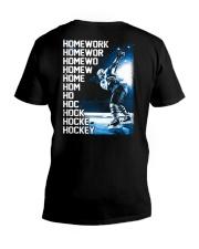 HOCKEY HOMEWORK V-Neck T-Shirt thumbnail