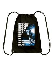 HOCKEY HOMEWORK Drawstring Bag thumbnail