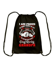 PROUD DRAG RACING GRANDPA Drawstring Bag thumbnail