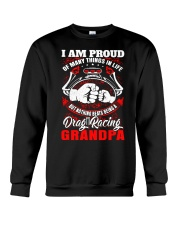 PROUD DRAG RACING GRANDPA Crewneck Sweatshirt thumbnail
