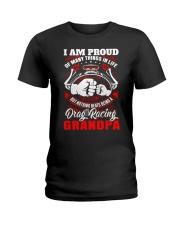 PROUD DRAG RACING GRANDPA Ladies T-Shirt thumbnail