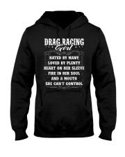 Drag Racing Girl Hooded Sweatshirt thumbnail