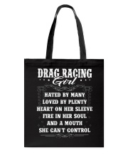 Drag Racing Girl Tote Bag thumbnail