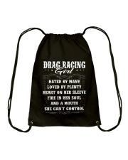 Drag Racing Girl Drawstring Bag thumbnail