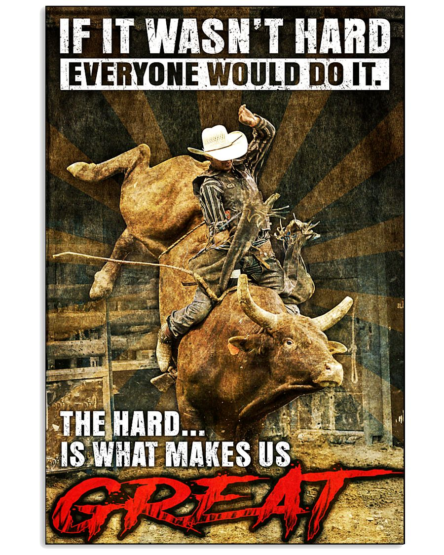 Bull Riding - MAKE US GREAT 11x17 Poster